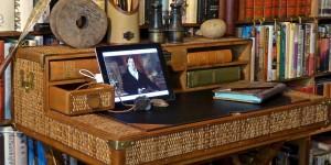 Safari writing desk at Don's home