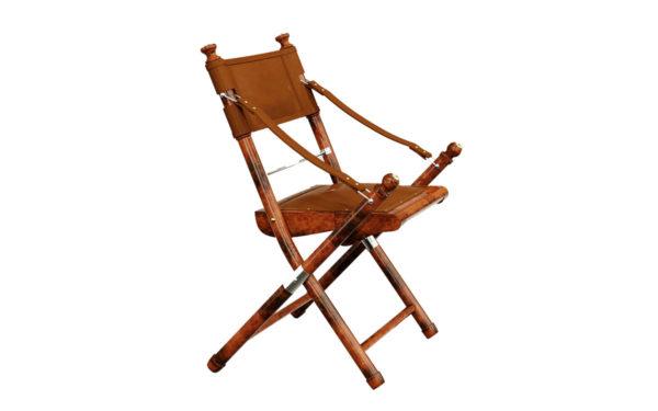 safari campaign chair side view