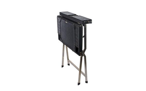Campaign Computer Desk - Black Croc - folded