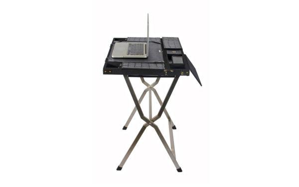 Campaign Computer Desk - Black Croc - side view